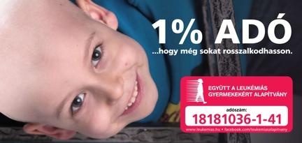 Most úgy segíthet, hogy önnek ez  semmibe sem kerül!  Adja adója 1%-át a leukémiás gyermekeknek! Klikk a részletekért!